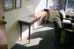 Cherry table in my office
