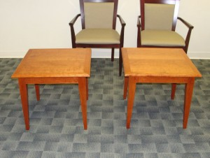 "Two 26"" tables - cherry"