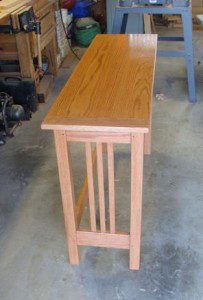 Oak work table