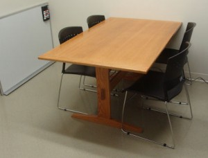 Oak table for break room