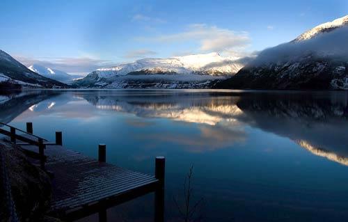 Jølstravatnet Lake in Jølster, Norway